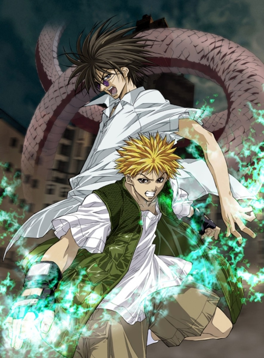 Ginji Amano and Ban Midou of the GetBackers Recovery Service