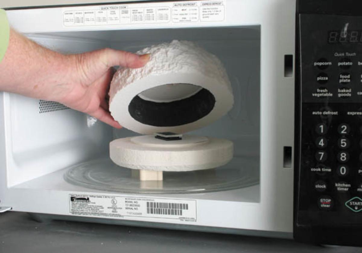 Microwave Kiln for Fused Glass Pendants