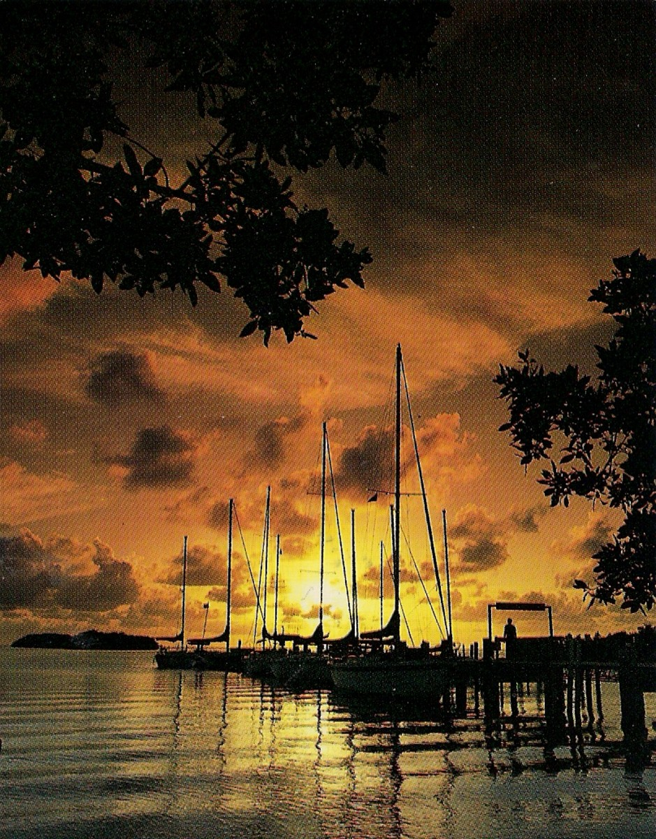 Sailboats And Sunset