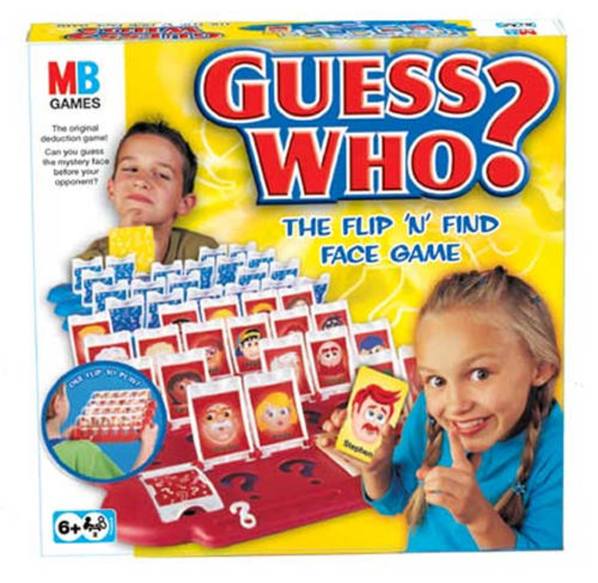 Guess who, the classic stereotypical profiling board game.