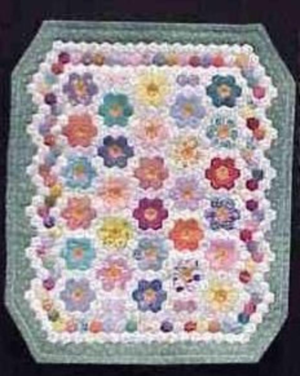 Grandmother's Flower Garden Miniature Quilt