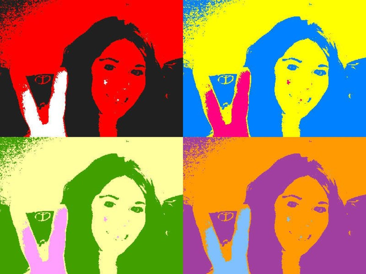 Warhol-esque artsy photo. PEACE!