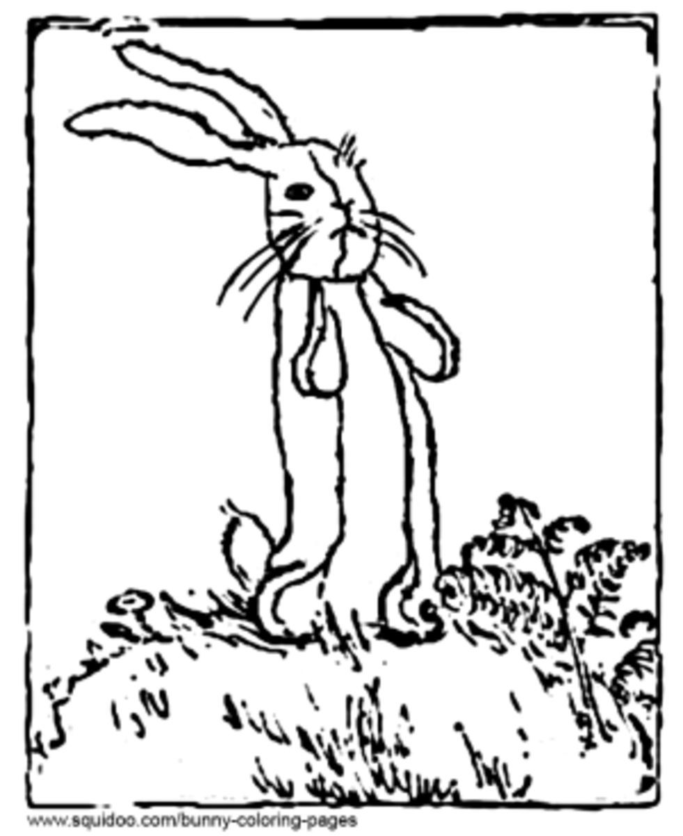 Velveteen Rabbit Coloring Page