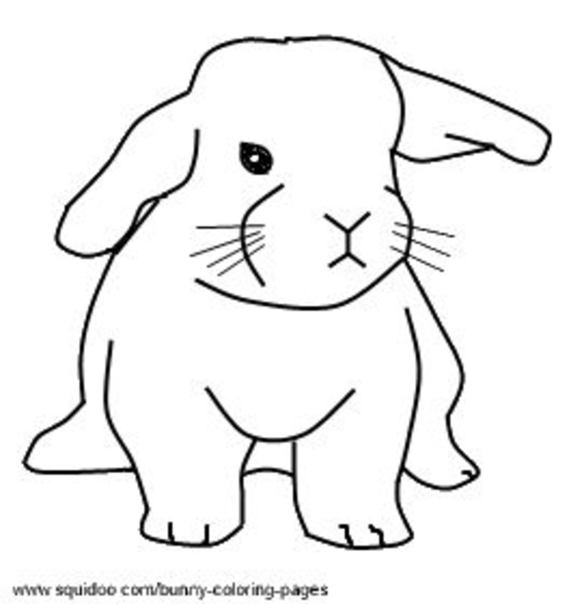 Baby Rabbits coloring pages