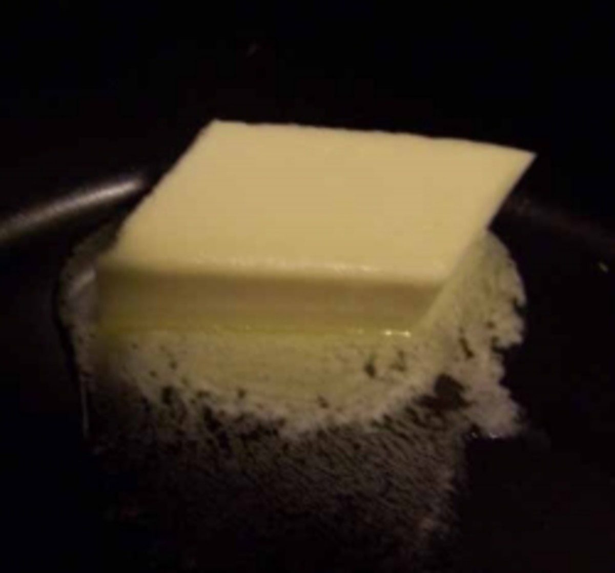 Melting butter in a pan