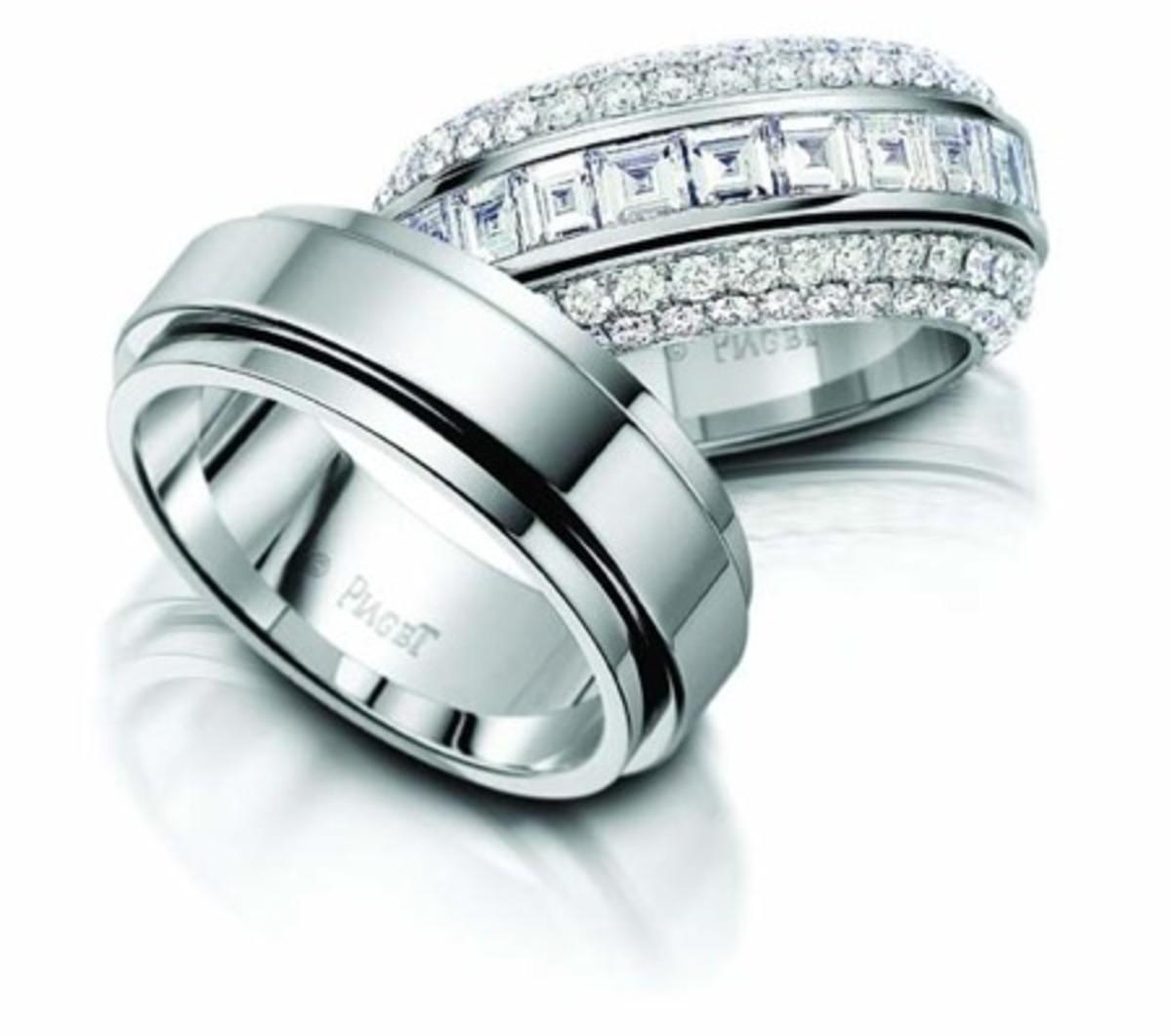 Triple banded French bridal design.