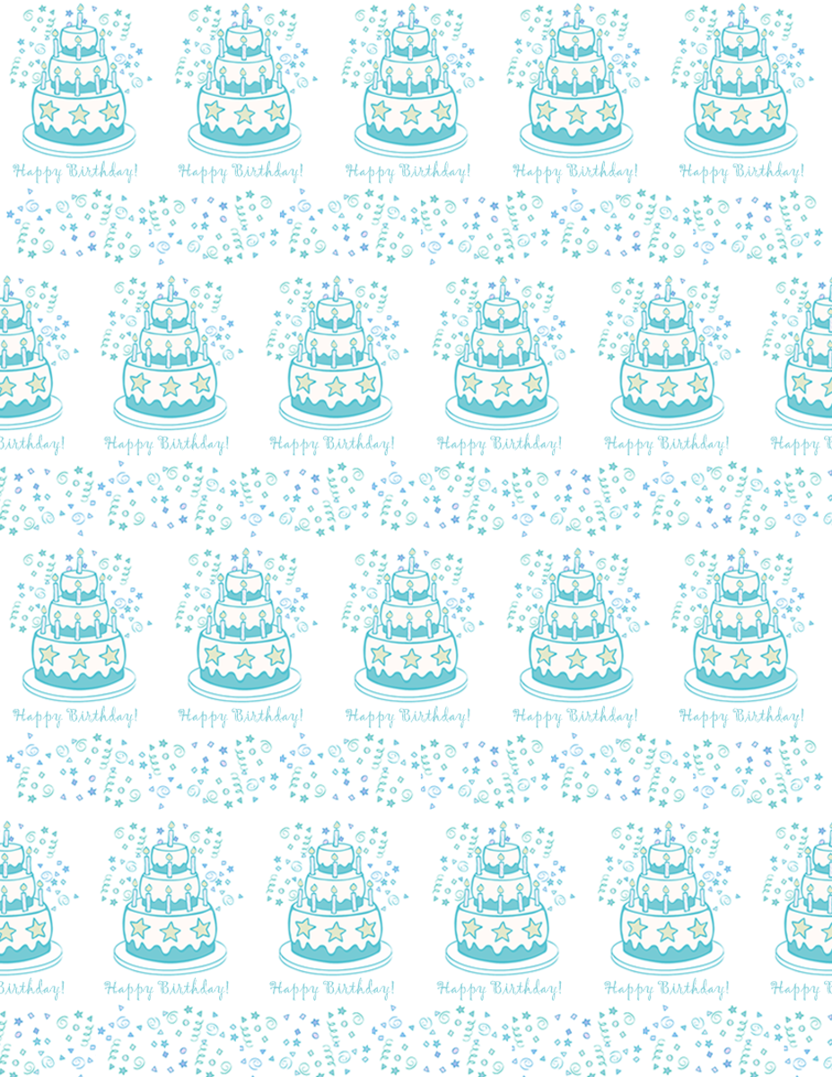 Sample from the Free Birthday Scrapbook Paper hub