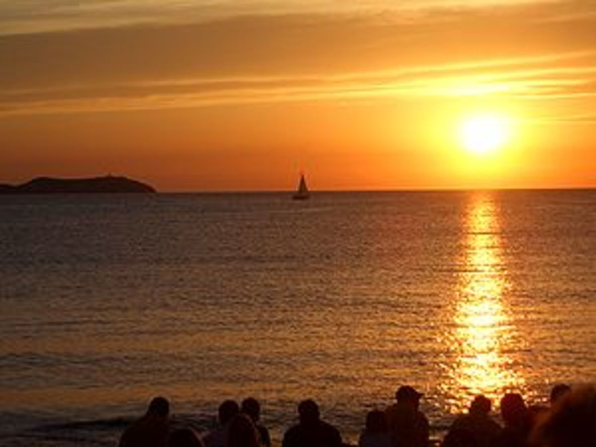 Sunset from the Cafe del Mar