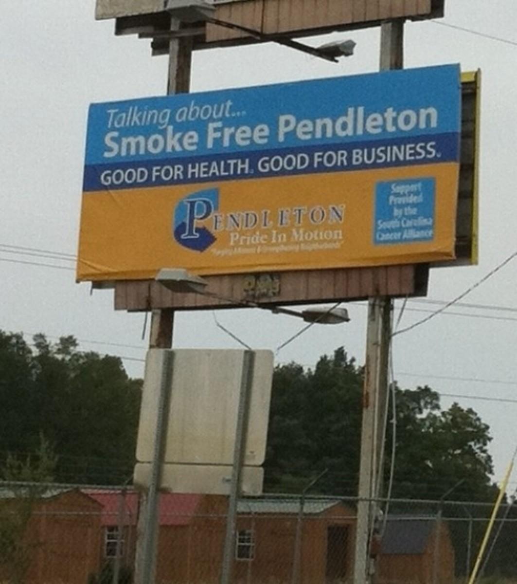 Smoke Free Pendleton Billboard