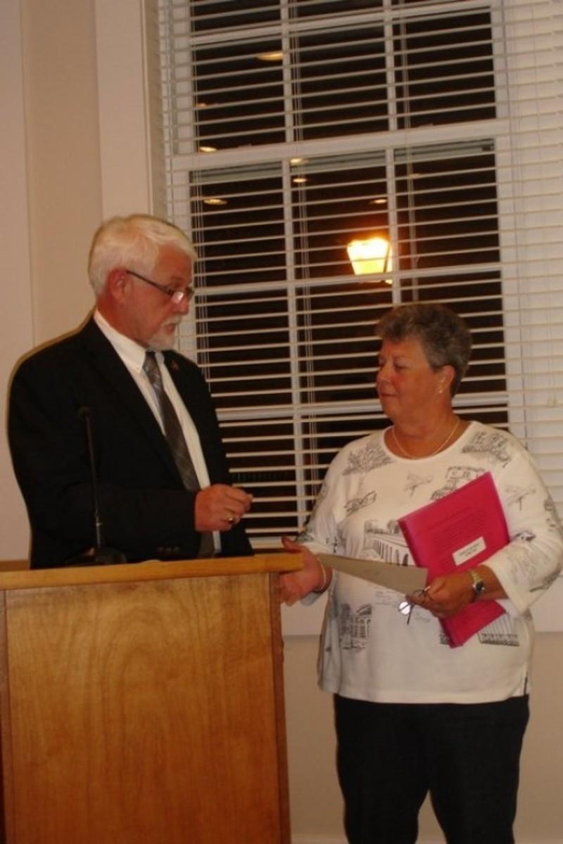 Mary Jo Craig Town Council Meeting Nov 2010