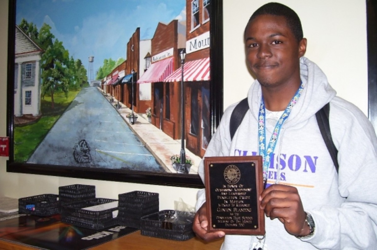 Clinton Blanding Pendleton High School Student of the Month