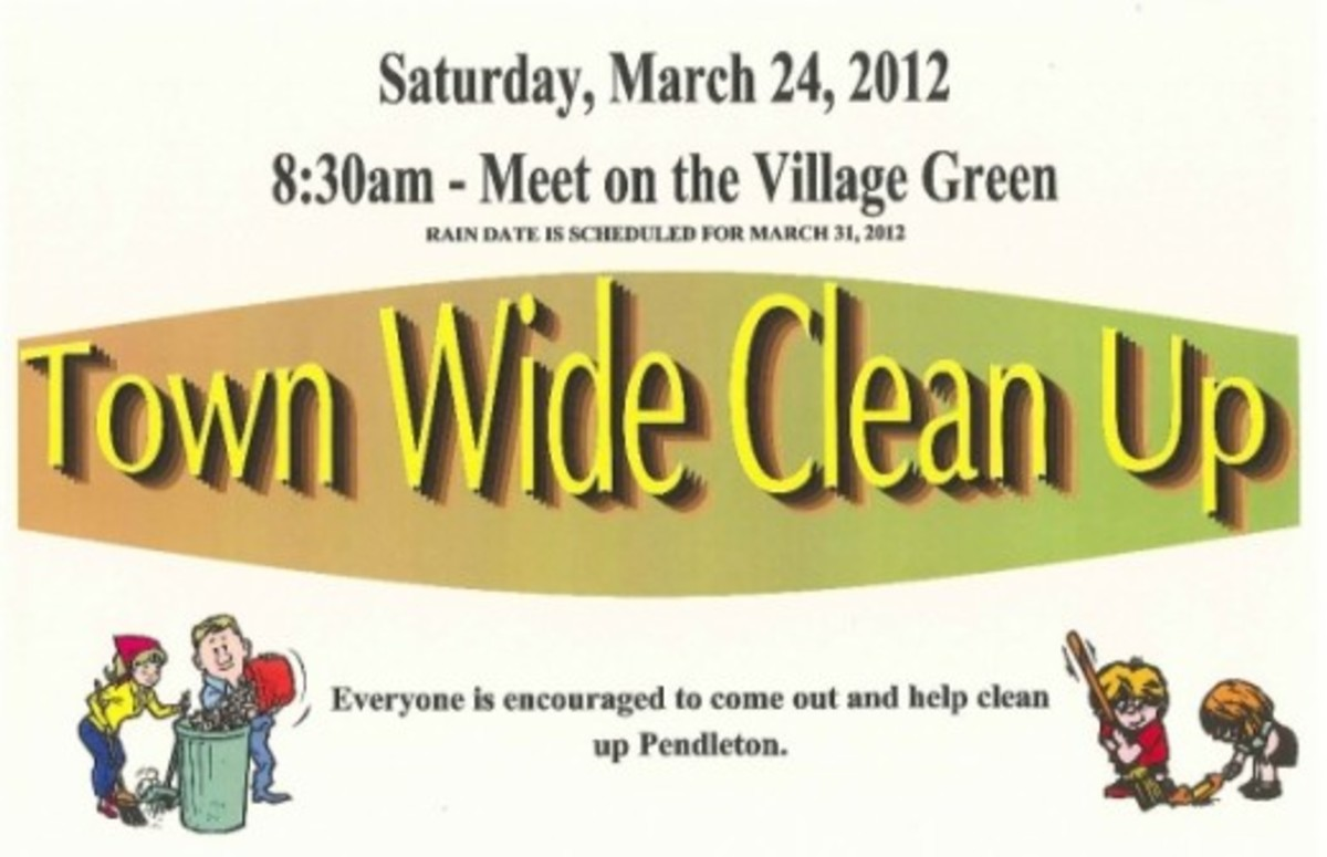 town wide clean up March 24, 2012