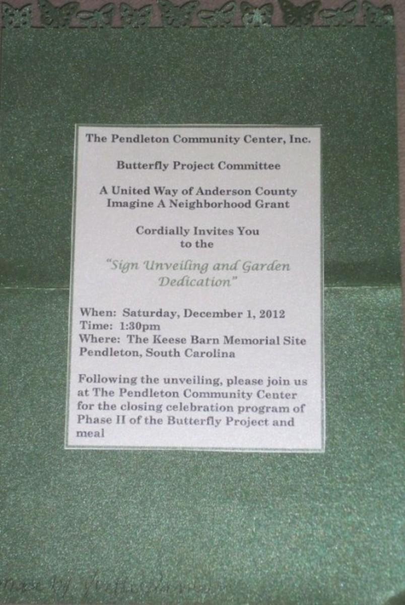 Pendleton Community Center Invitation