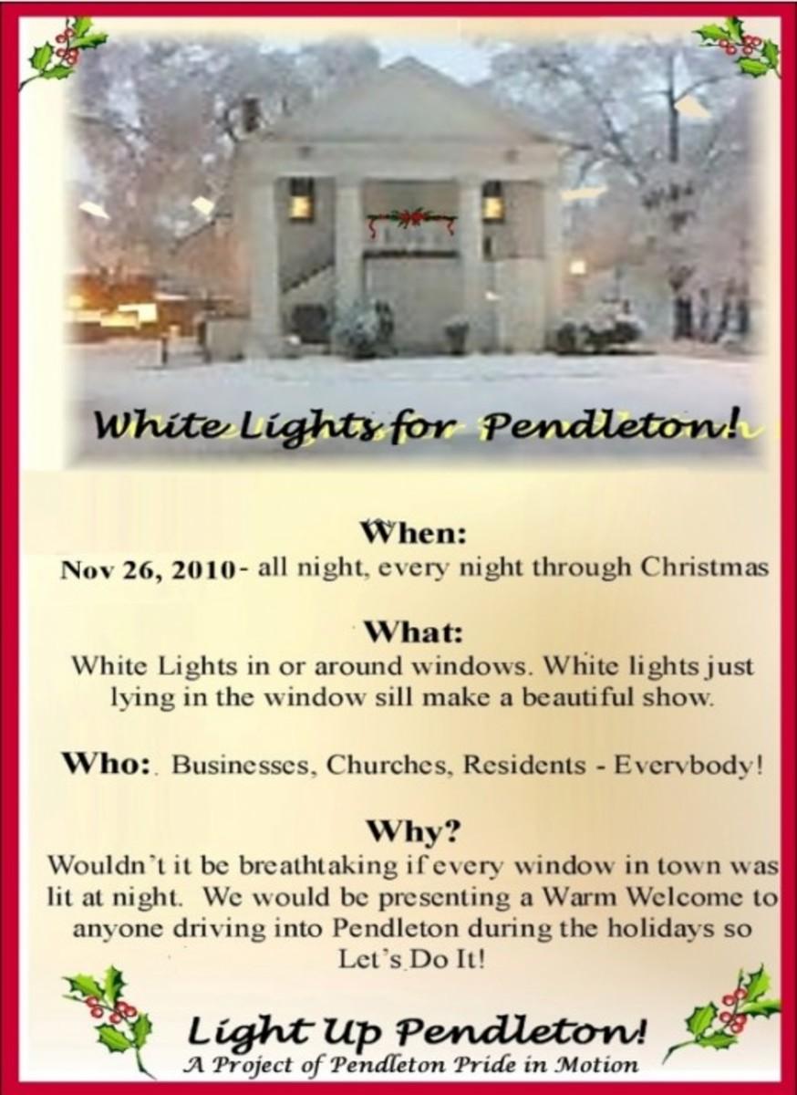 white lights for pendleton