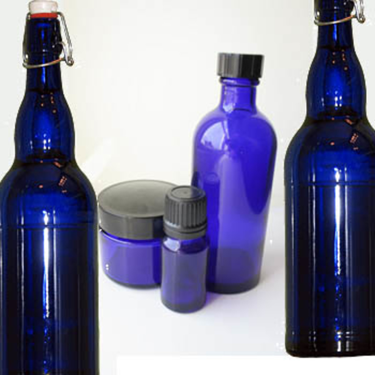 any blue glass bottle can be used to make blue solar water.