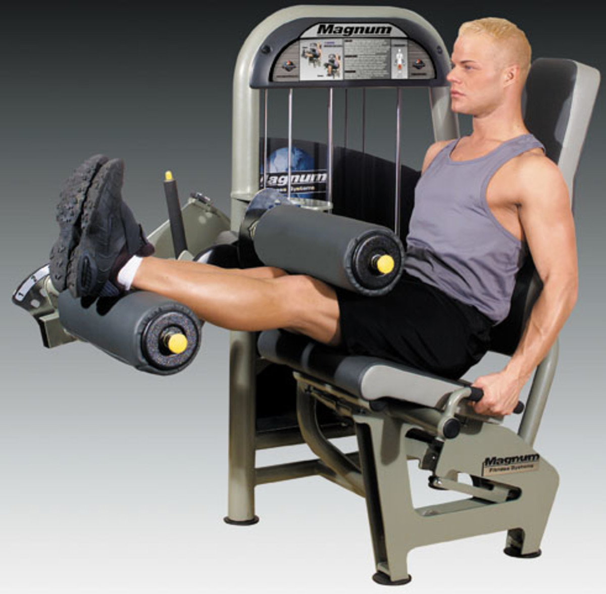 Leg Fitness Exercises on Equipment: Roman Chair, Leg Curls and Squats