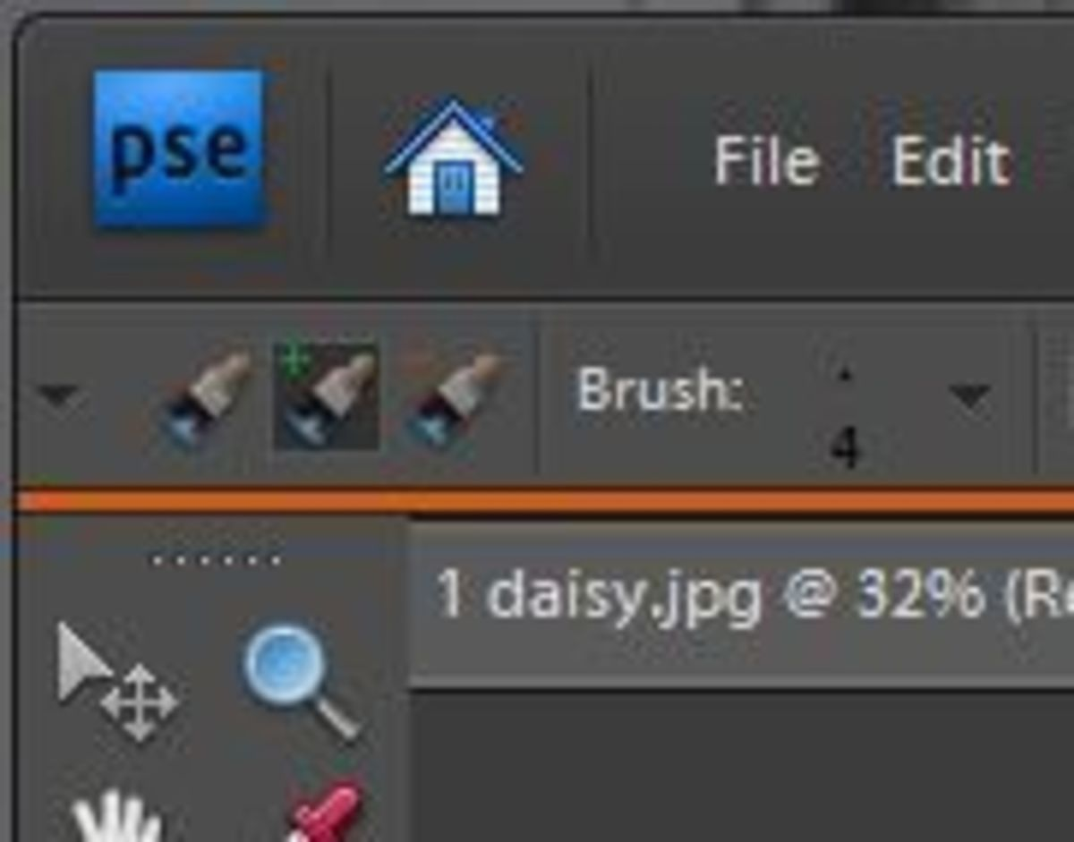 Right next to the drop down menu you will see a plus and minus brush.