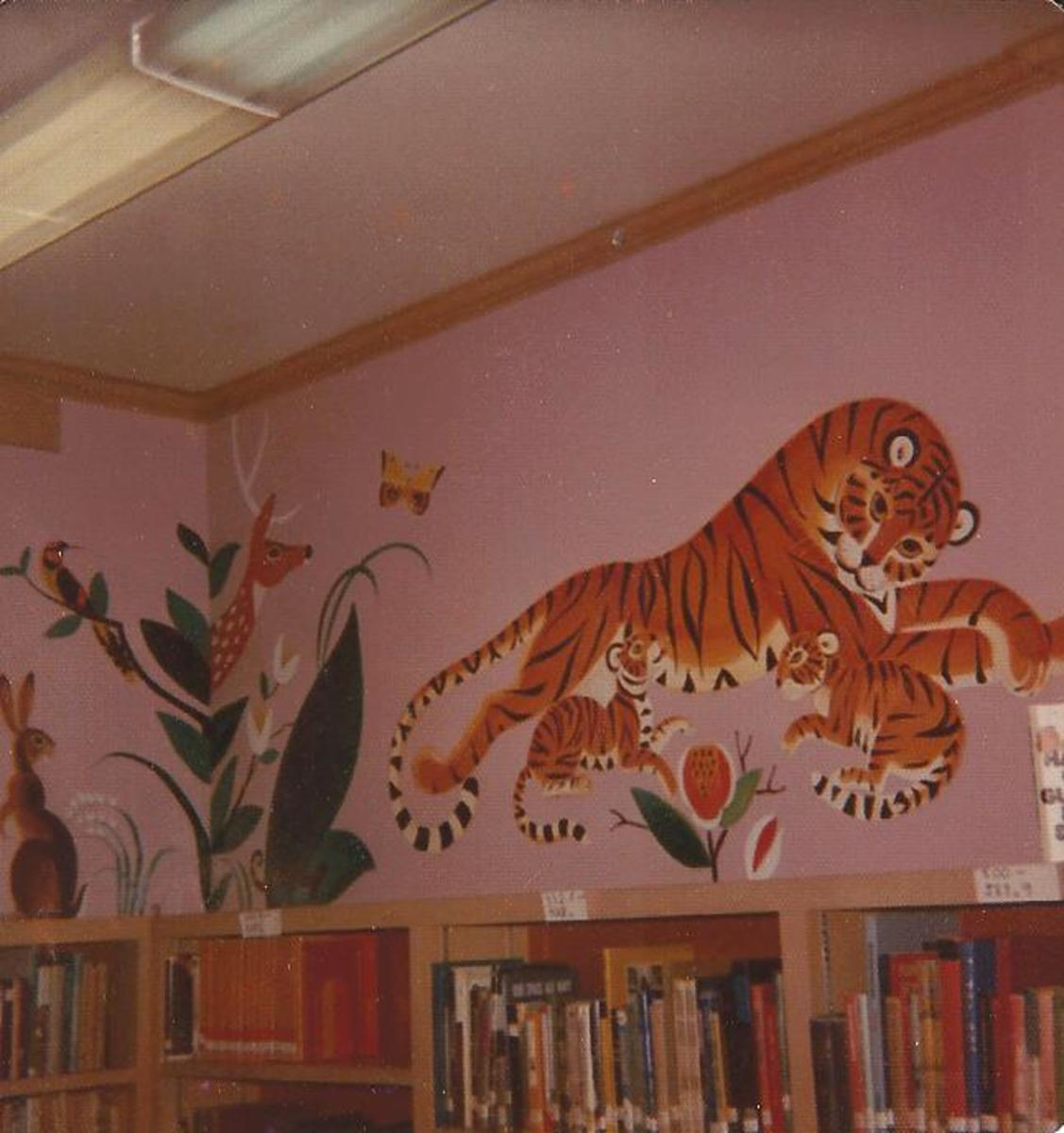 This noted artist from Maine decorated the children's room in this memorable way. Take a look on Amazon to see the wonderful books she illustrated.