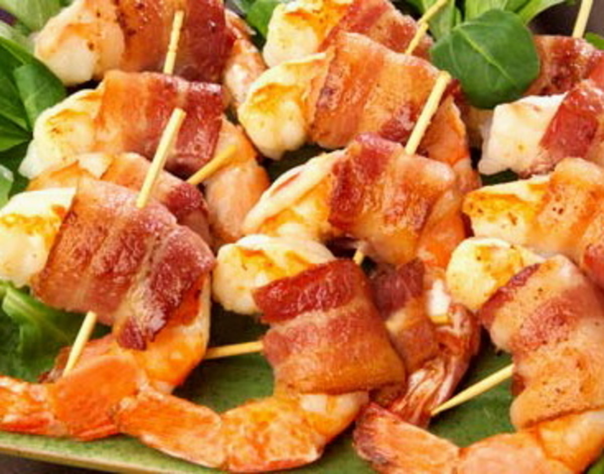 Finger Food: Bacon Wrapped Prawns