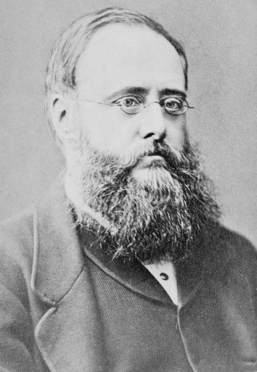 Portrait of British writer Wilkie Collins (1824-1889).