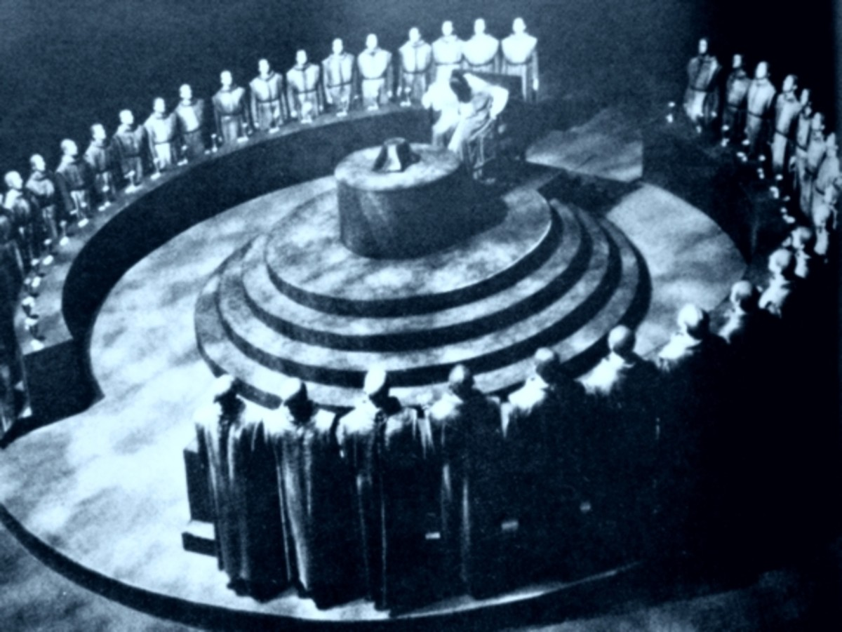 How a meeting of a secret society might look