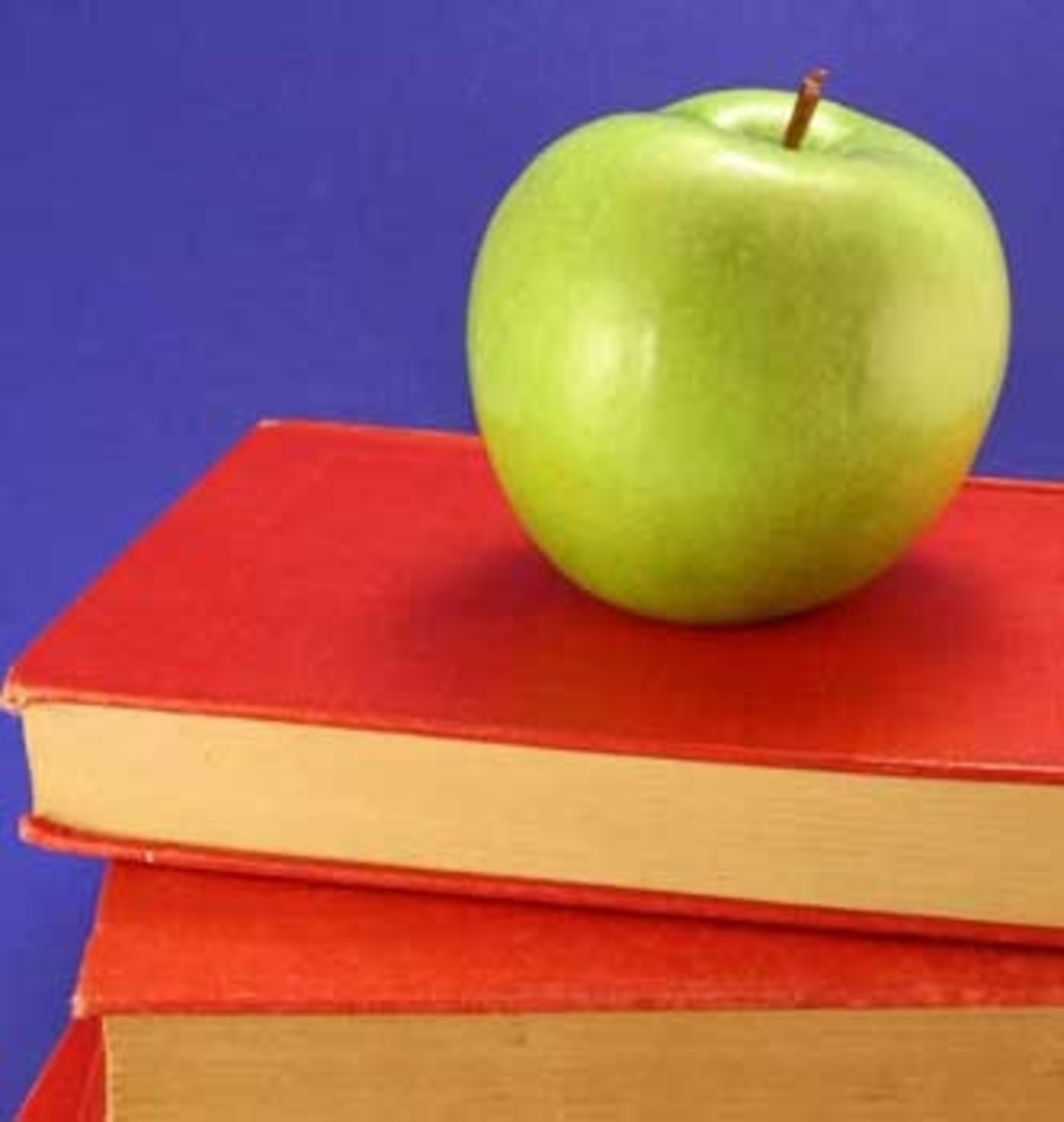 Classic classroom: apple and books