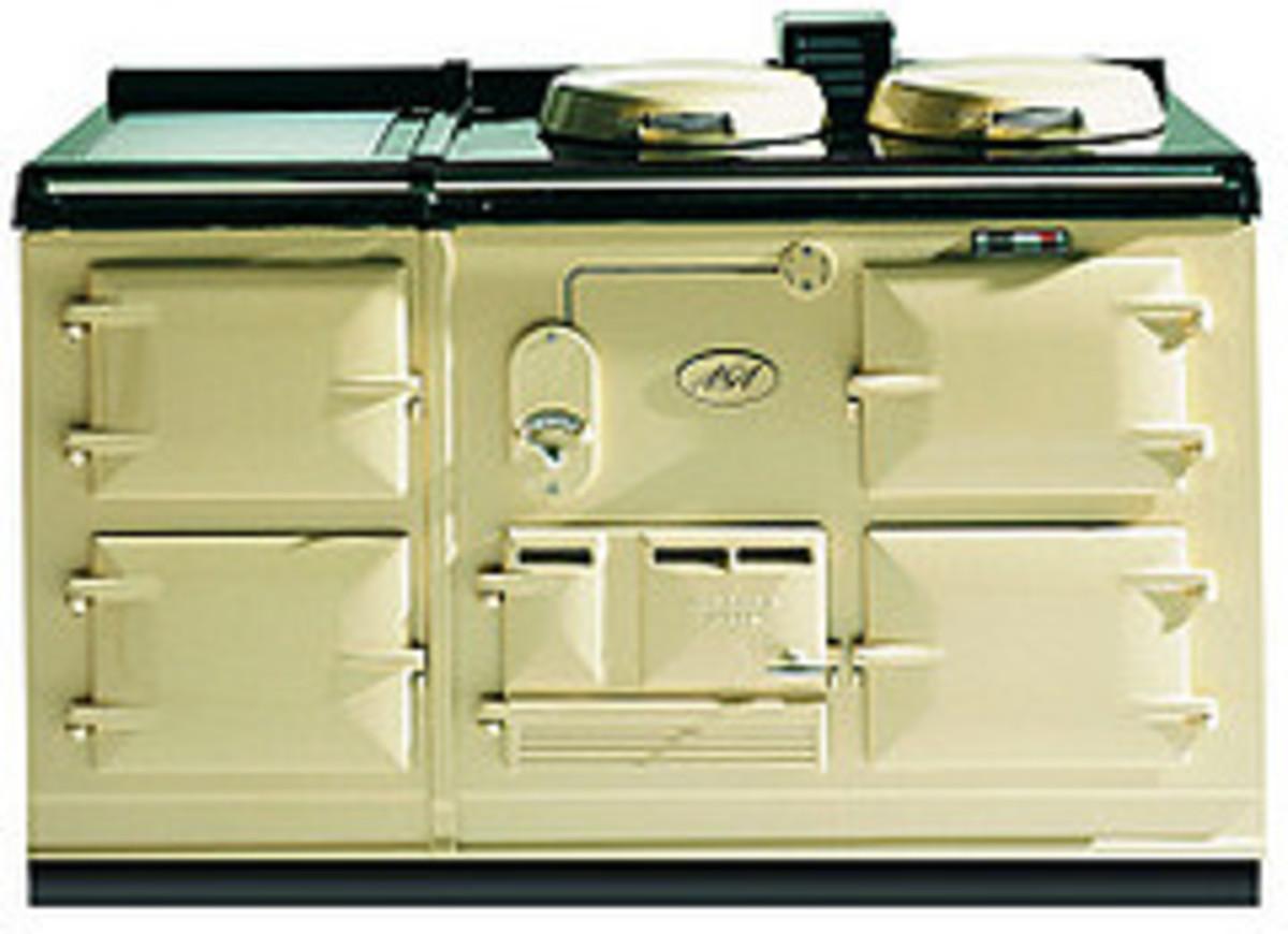 Standard cream double oven Aga