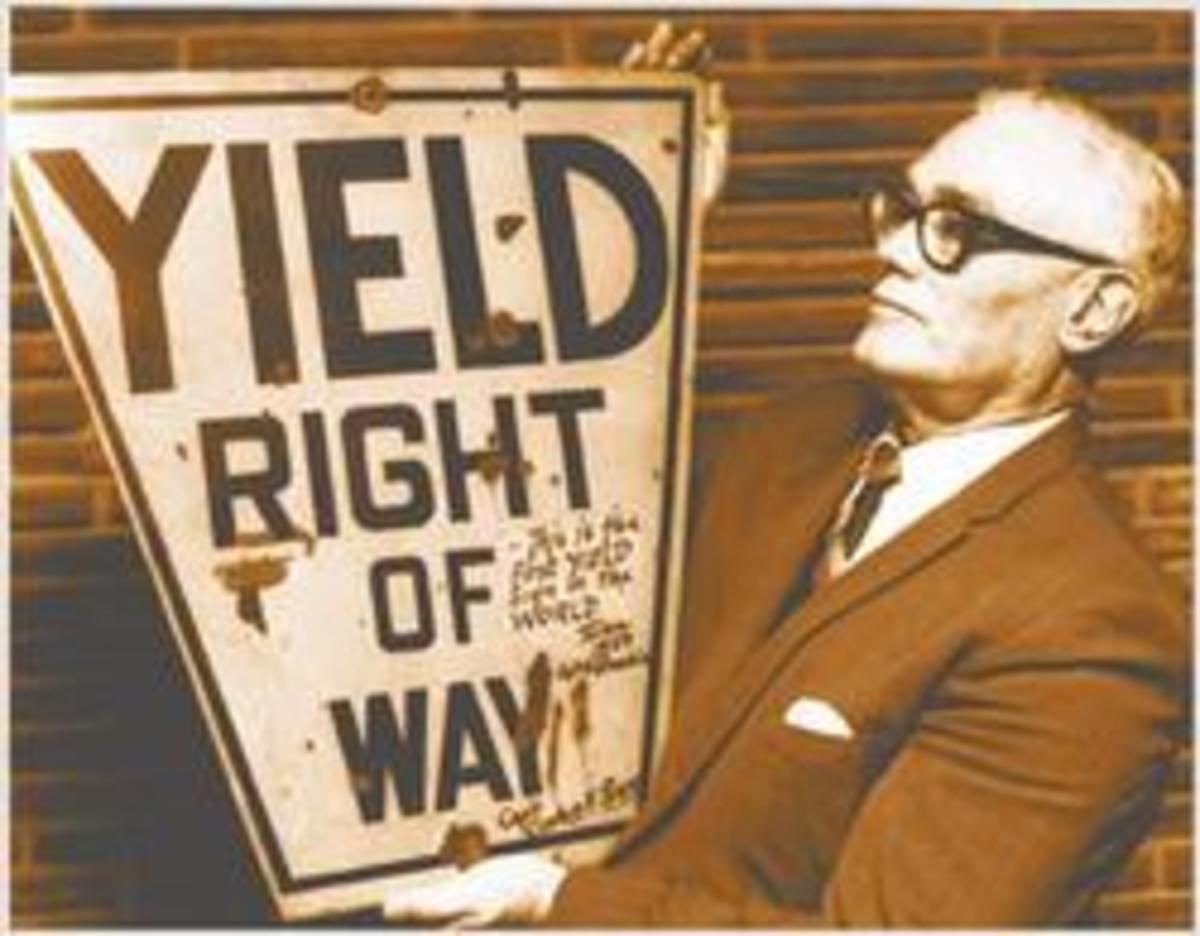 Oklahoma Invention and Inventors: Clinton Riggs and the First Concept Yield Sign