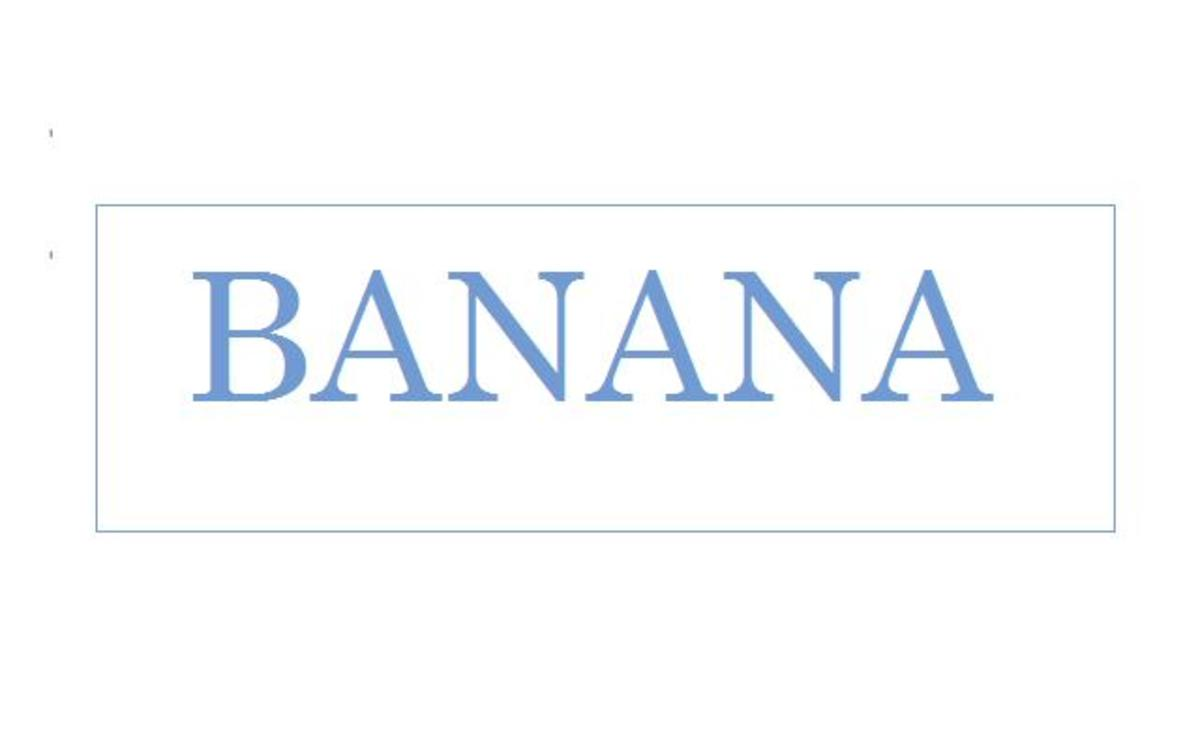 "Lexigram for the English word ""banana"""