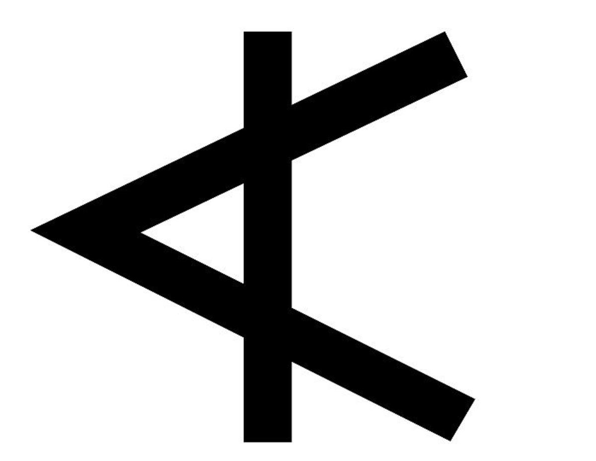 "The Phoenician letter aleph was originally a lexigram for  the word aleph ""bull""  Image Credit: Wikipedia"