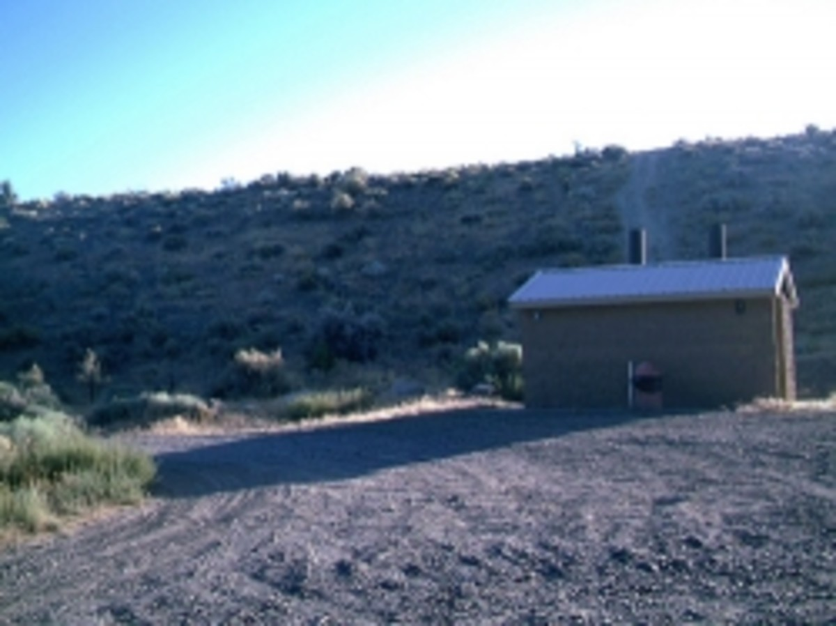 Outhouse at a Nevada Campground