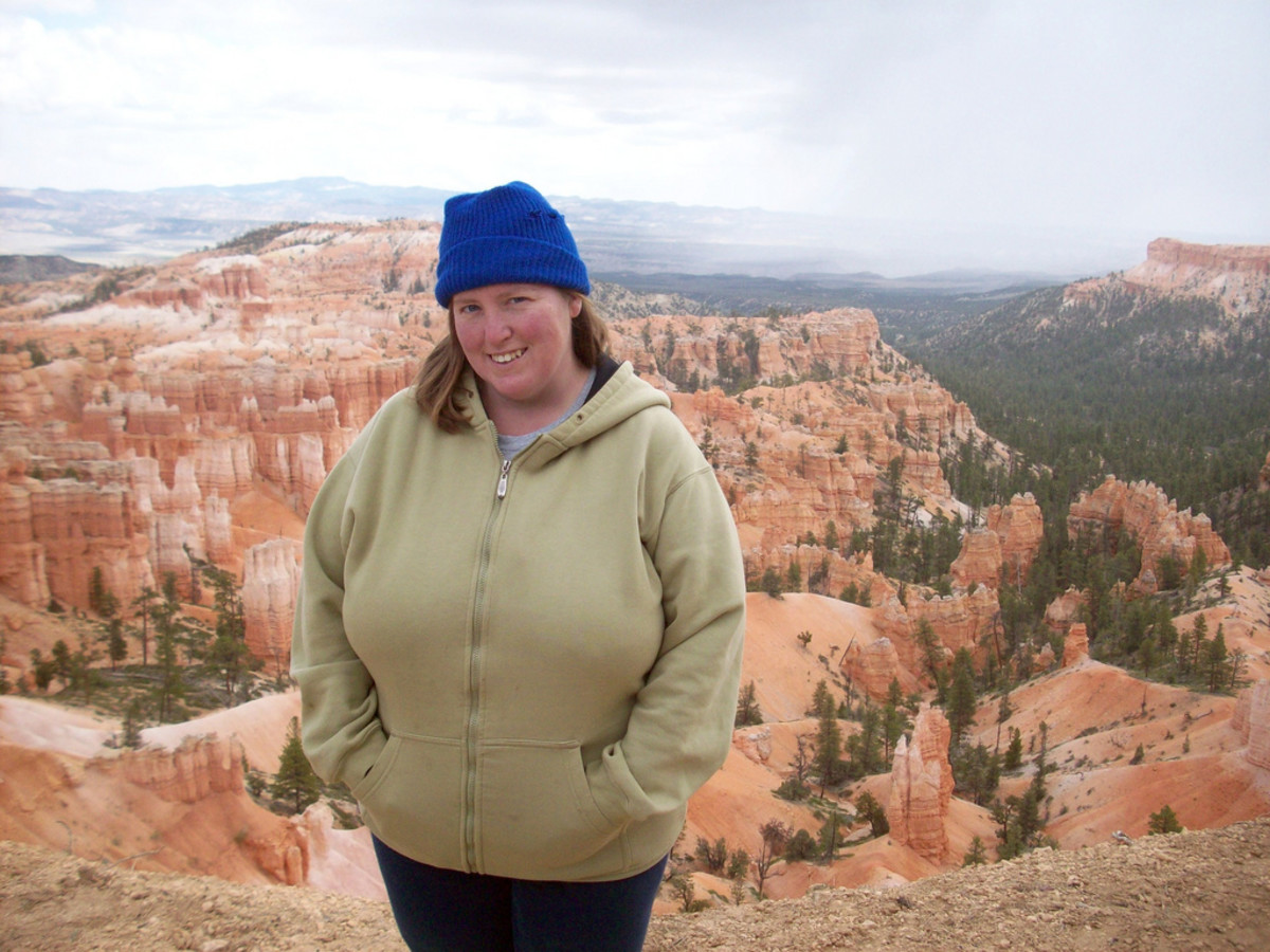 A stocking cap and hoodie keep my coxy while hiking in Utah's beautiful Bryce Canyon