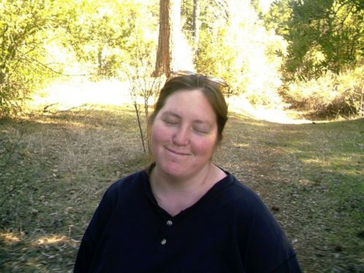 A Happy Woman Camper in Georgetown, California