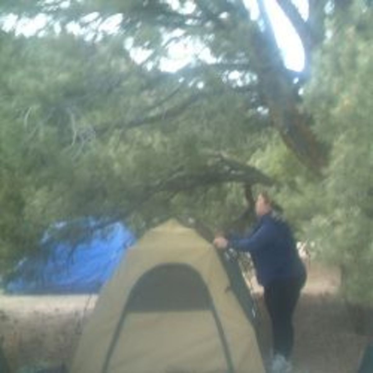 Setting Up the Tent in Nevada High Desert