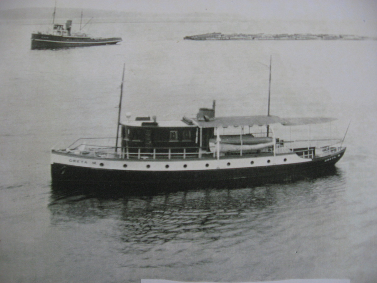 History of Argonaut II: Powell River Company Yacht, 1922-1937 (Greta M)