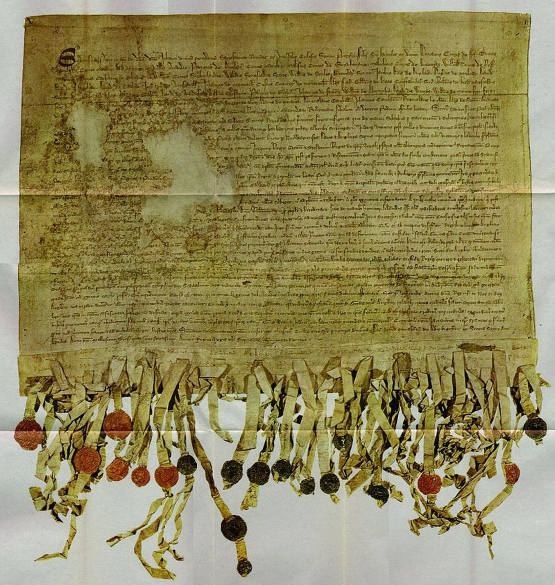 April 6, 1320 was the day of independence for Scotland from British rule. This image shows their Declaration of Arboath.