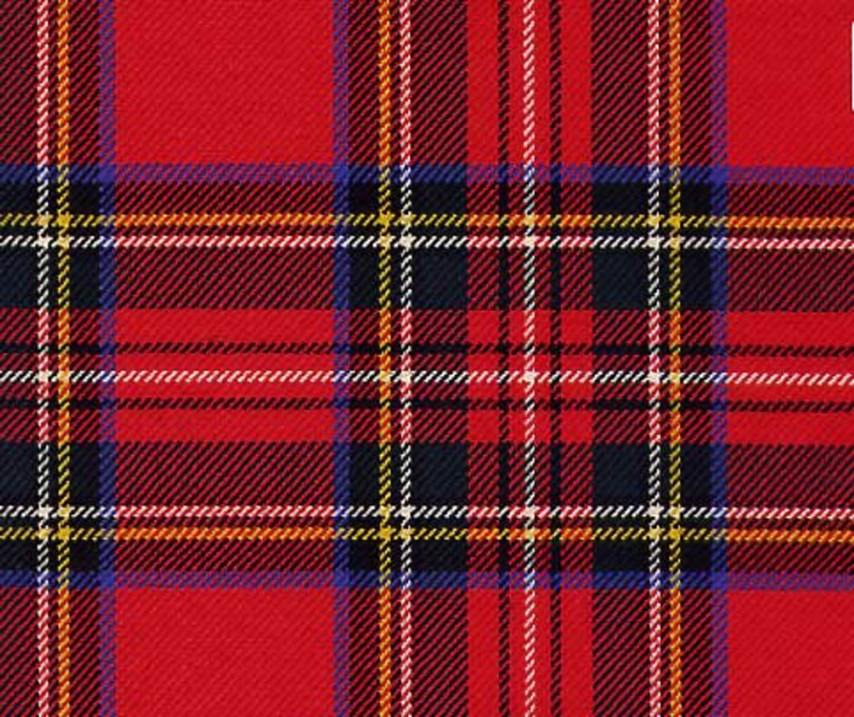 I am too distantly related to Clan Stewart to wear its tartan, but I am permitted to wear a traditional crest of the clan on a knee sock.