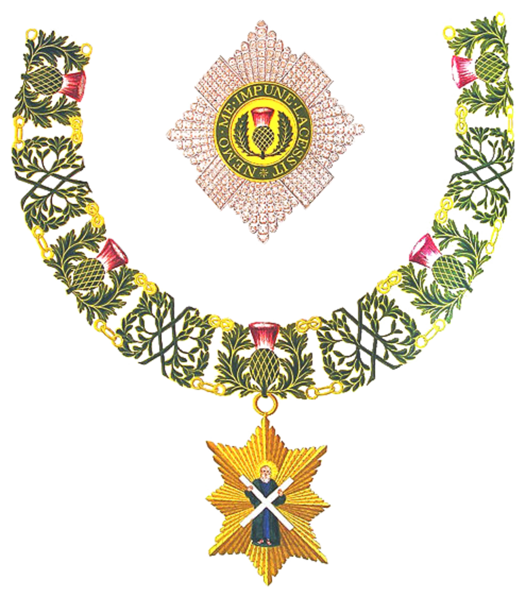 Most Ancient and Most Noble Order of the Thistle, second only to England's Most Noble Order of the Garter.