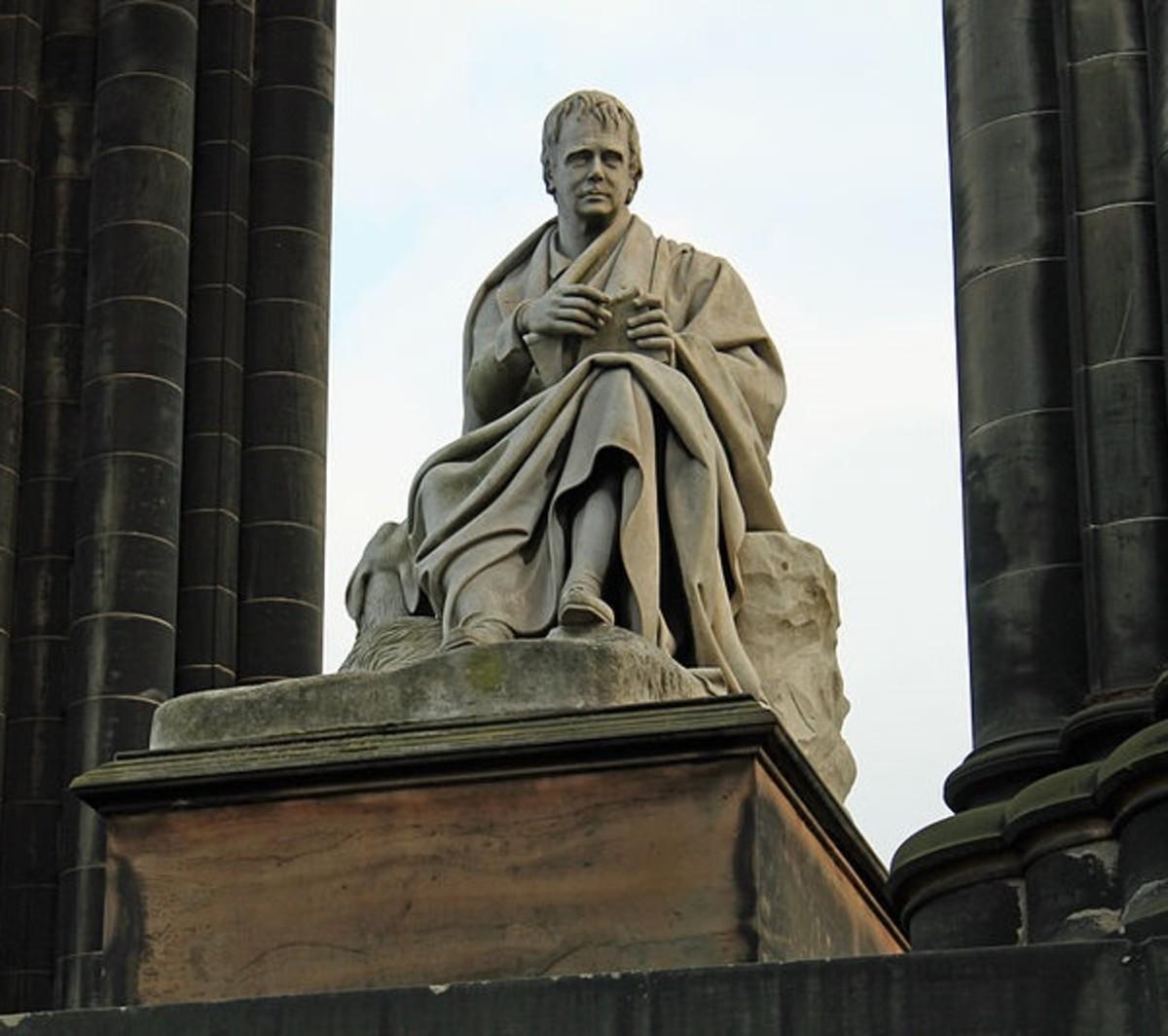 Monument to Sir Walter Scott in Edinburgh, Scotland.