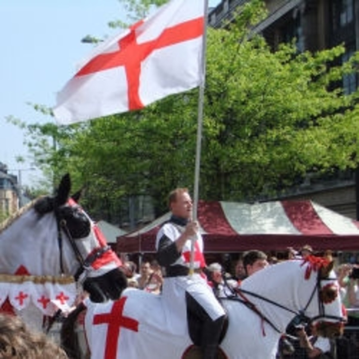 A St George's Day parade in England