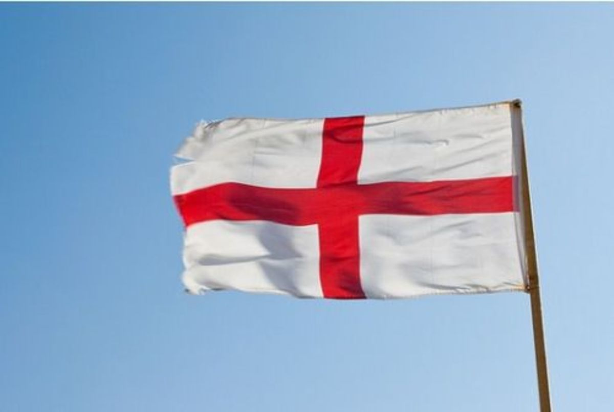 The flag of England is the St George's Cross (Cross of St George)