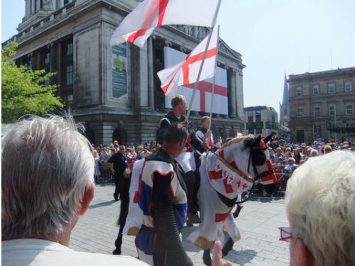 St George's Day in Nottingham's Old Market Square.