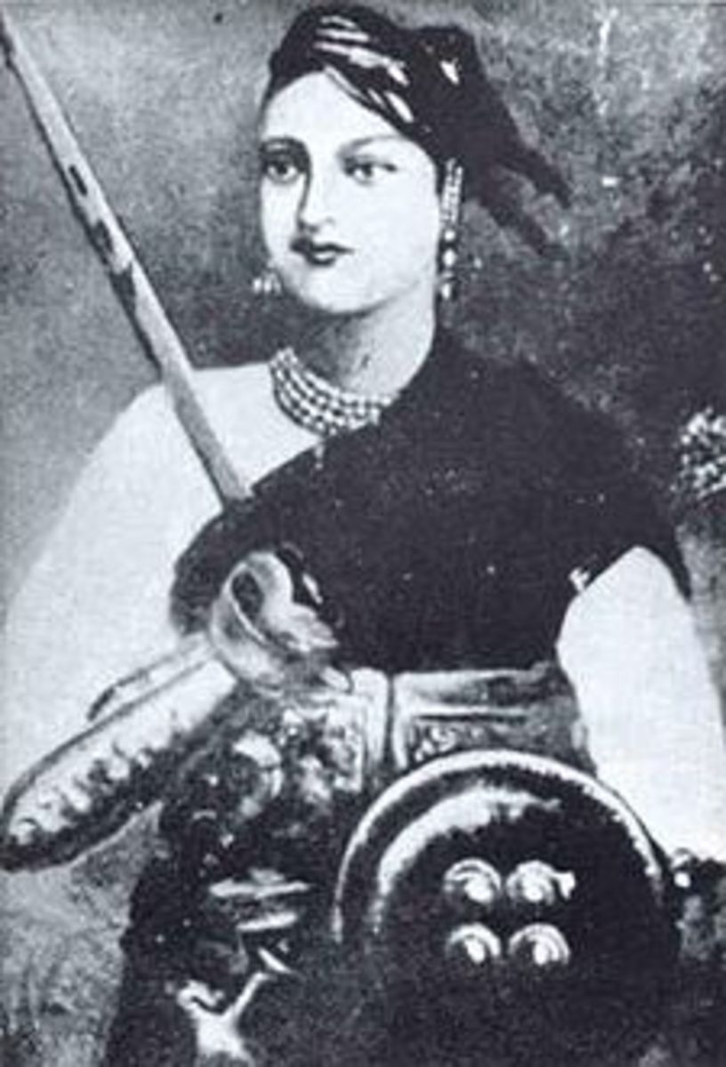 Queen of Jhansi in warrior costume