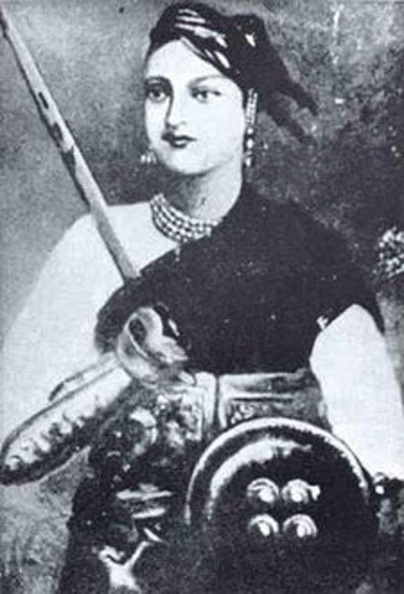 Queen of Jhansi in warrior costume