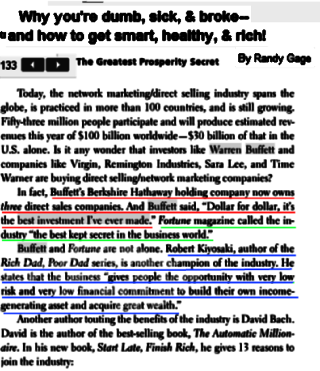 """Page 133 from the book by Randy Gage, most of the """"expert watch"""" are copied from here and the next page."""