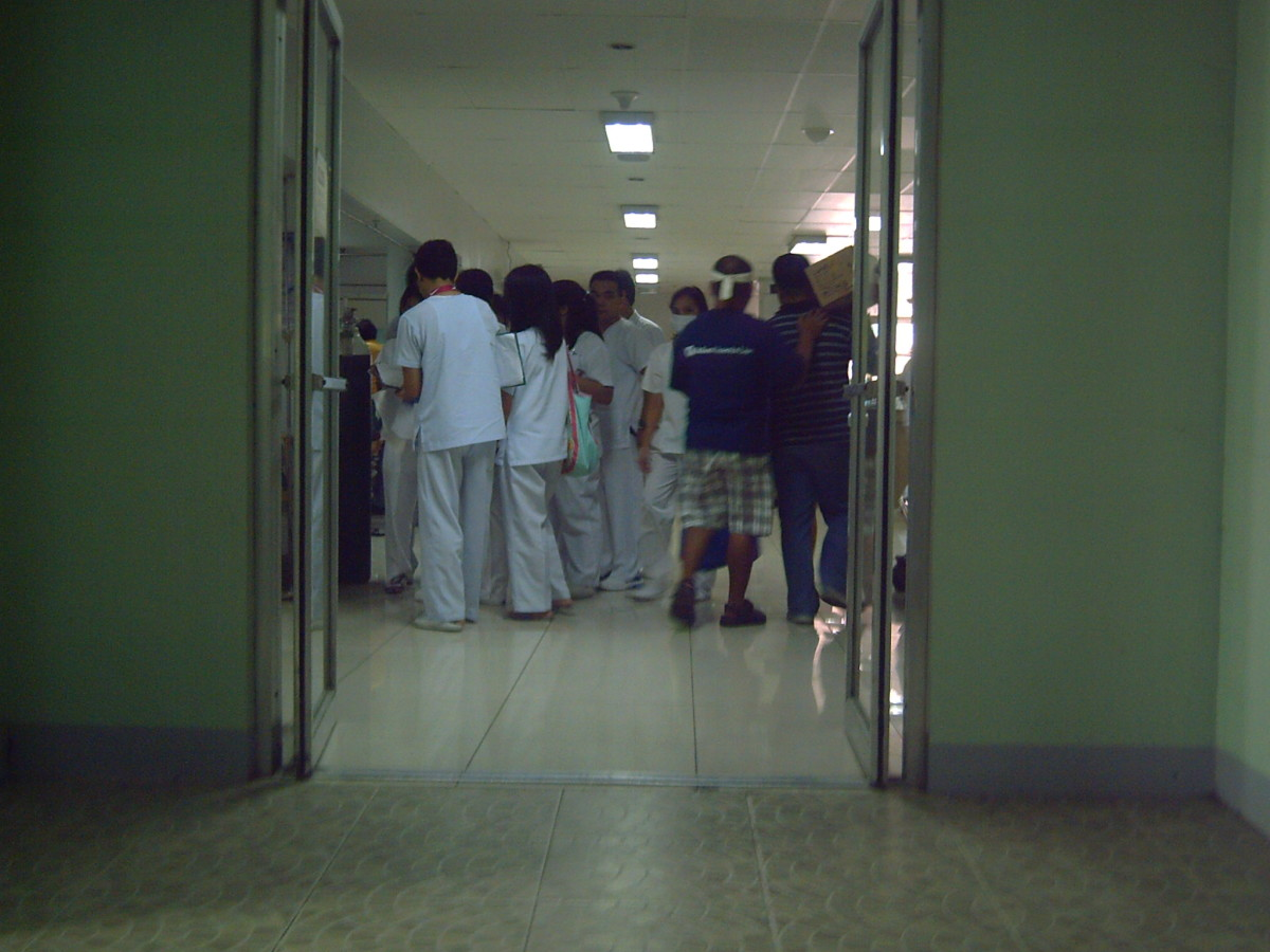 At the NURSES' STATION