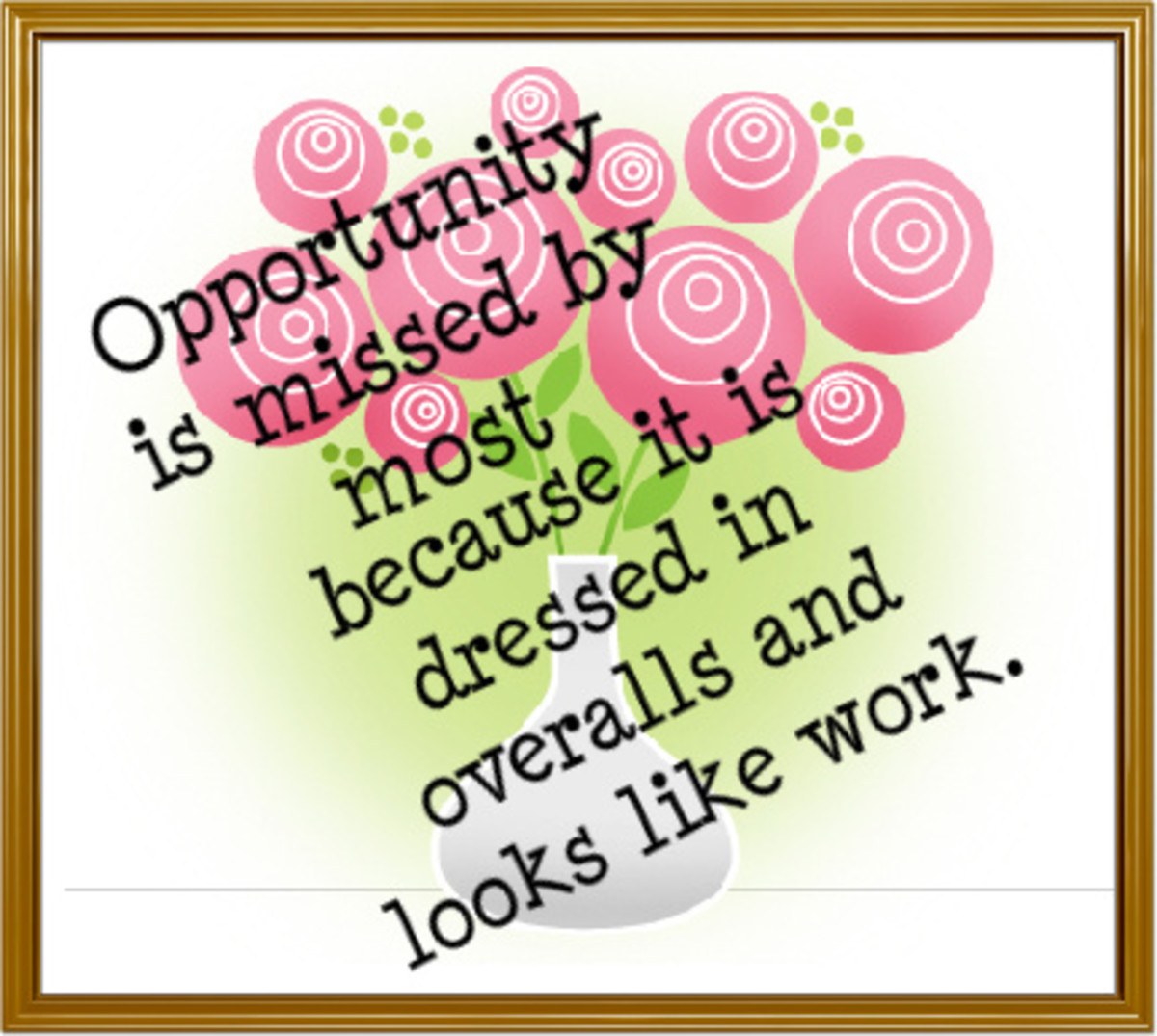 Thomas Alva Edison on Opportunity