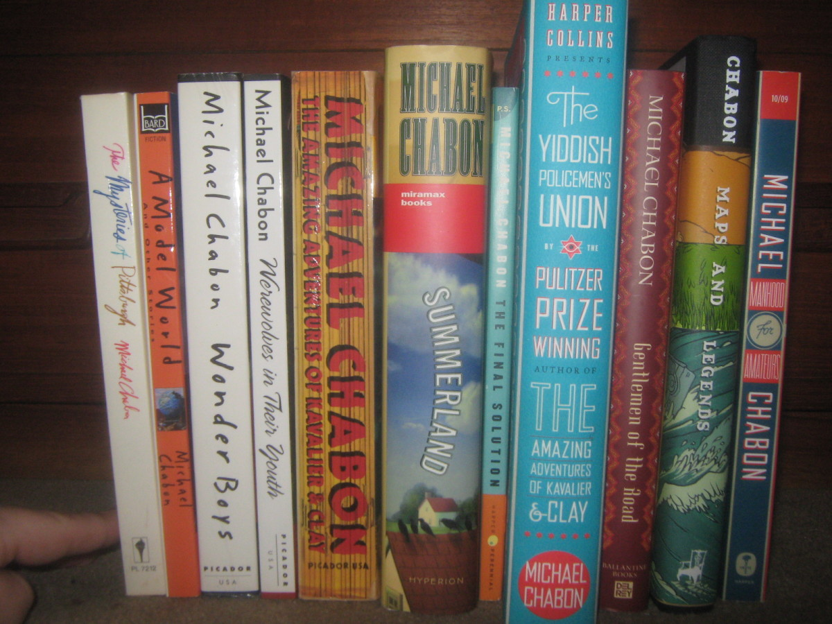 A collection of Michael Chabon's books.