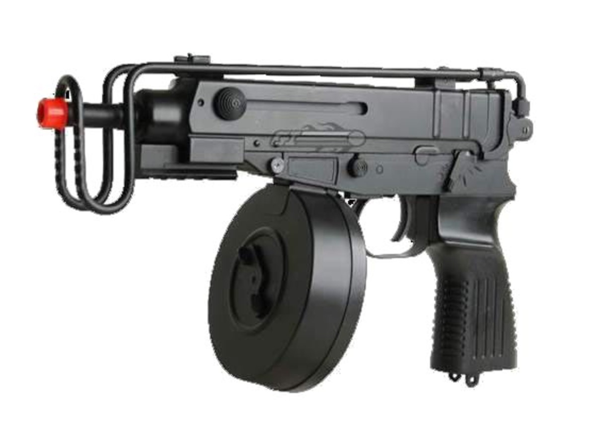 Airsoft electric pistol gearbox fits easily in the subcompact personal defense weapons. The R2 by Well, is one of the cheapest and most powerful clones on the market.