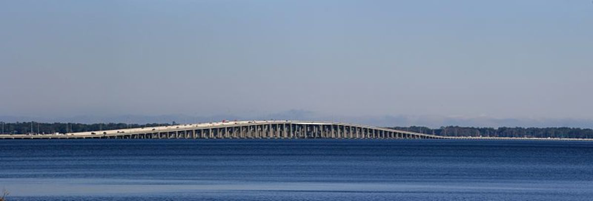 Henry H. Buckman Bridge panorama.